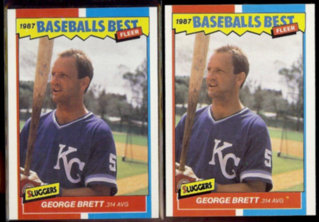 GEORGE BRETT (2) 1987 Fleer Best Odds #6 of 44.  ROYALS - Straight from Sets