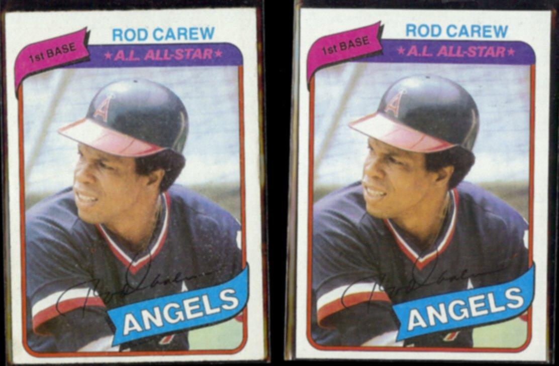ROD CAREW (2) 1980 Topps #700.  ANGELS