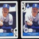 RANDY JOHHNSON (2) 1990 US Playing Card Co. 3-Spades.  MARINERS