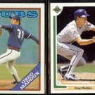 GREG MADDUX 1988 Topps #361 + 1991 Upper Deck #115.  CUBS