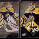TIM THOMAS 2009 Upper Deck Black Diamond #31 + 2008 UD Black Diamond #6.  BRUINS