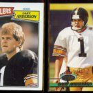 GARY ANDERSON 1987 Topps #289 + 1993 Stadium Club #195.  STEELERS
