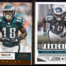 JEREMY MACLIN 2012 Panini Absolute #75 + 2013 Panini Score #322.  EAGLES