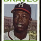 HANK AARON 1999 Topps (1964) Reprint Stamp Insert #300/ #11 of 23.  BRAVES