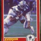 EVERSON WALLS 1989 Score #171.  COWBOYS