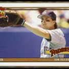TIM TEUFEL 1991 Topps Traded #120T.  PADRES