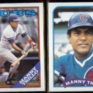 MANNY TRILLO 1988 Topps #287 + 1989 Topps #66.  CUBS