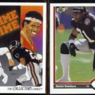 DEION SANDERS 1991 Upper Deck #85 + #154.  FALCONS