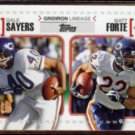 GALE SAYERS / MATT FORTE 2010 Topps Gridiron Lineage Insert #GL-SF.