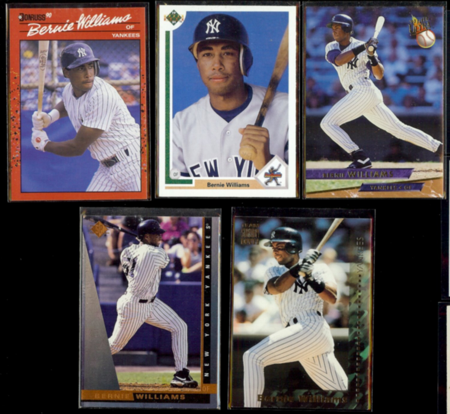 BERNIE WILLIAMS (5) Card Lot (1990