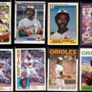 EDDIE MURRAY (8) Card Lot (1980, 1984 + 1986) + 2010.  ORIOLES