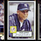 DAVID JUSTICE (3) Card 2001 Lot w/ SC, Topps + UD.  YANKEES