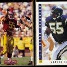 JUNIOR SEAU 1992 Pro Line Profiles #138 + 1993 Score #272.  CHARGERS