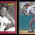 TONY PENA 1991 Studio #17 + Tony Jr. 2008 Upper Deck #375.  RED SOX / ROYALS