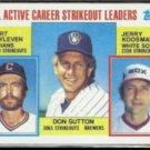 DON SUTTON 1984 Topps #716 w/ Blyleven + Koosman.
