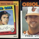 FRED LYNN 1990 Topps TBTC #663 + 1986 Topps #55.  RED SOX / ORIOLES