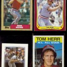 TOMMY HERR (4) Card Lot (1986 + 1987)  CARDS