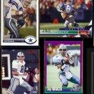 JAY NOVACEK (4) Card Lot (1991 - 1996).  COWBOYS