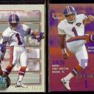 JASON ELAM 1993 Power Prospects + 1995 Fleer.  BRONCOS
