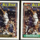 CHARLES BARKLEY 1992 Topps Gold All Star Insert #107 w/ sister.