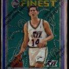 JEFF HORNACEK 1996 Topps Finest #48.  JAZZ