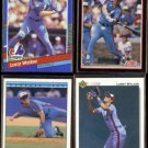 LARRY WALKER (4) Card Lot (1991 + 1992)  EXPOS