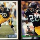 ROD WOODSON 1993 Bowman #96 + 1993 Stadium Club #112.  STEELERS