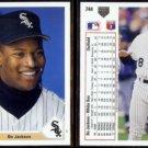 BO JACKSON (2) 1991 Upper Deck #744.  WHITE SOX