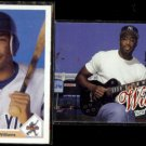 BERNIE WILLIAMS 1991 Upper Deck Star Rookie + 1998 Ultra.  YANKEES