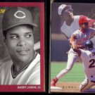 BARRY LARKIN 1991 Studio #167 + 1993 Flair #27.  REDS