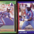 TIM RAINES 1989 Donruss Best #258 + 1991 Score Super Star #89.  EXPOS