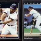WADE BOGGS 1992 Pinnacle #175 + 1993 Pinnacle #424.  RED SOX / YANKEES