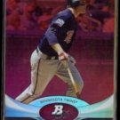 JUSTIN MORNEAU 2011 Bowman Platinum Moments #59.  TWINS