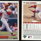 DEION SANDERS (2) 1995 Upper Deck CC #425.  REDS