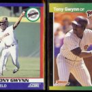 TONY GWYNN 1991 Score Super Star + 1989 Donruss Best.  PADRES