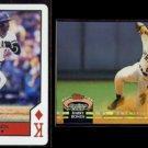 BARRY BONDS 1990 U.S. Playing Card K Diamonds + 1992 Stadium Club.  PIRATES