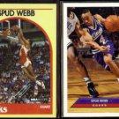 SPUD WEBB 1989 Hoops #3 + 1992 UD McDonald's Insert #P35.  HAWKS / KINGS