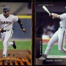 BARRY BONDS 1998 Donruss #37 + 1997 Donruss #167.  GIANTS