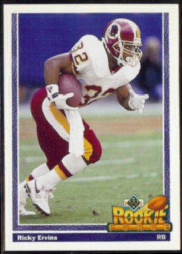 RICKY ERVINS 1991 Upper Deck Rookie Force #640.  REDSKINS