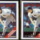 ROGER CLEMENS 1988 Topps #70 + 1988 O-Pee-Chee #70.  RED SOX
