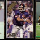 PHIL SIMMS (3) Card Lot (1992 -1994) w/ Action Packed.  GIANTS