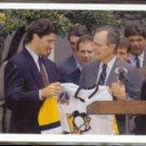 MARIO LEMIEUX w/ President GEORGE BUSH 1991 Upper Deck #47.  PENGUINS
