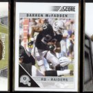 DARREN McFADDEN (3) Card Lot (2008, 2010 + 2011) w/ Rookie.  RAIDERS