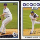 CHIEN-MING WANG 2009 Topps from Team Set #NYY4 + 2008 Topps #300.  YANKEES