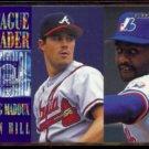 GREG MADDUX 1995 Fleer League Leader Insert #9 of 10.  BRAVES