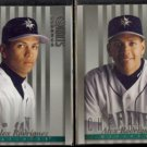 ALEX RODRIGUEZ 1997 Donruss Studio #43 + #165.  MARINERS