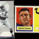 CHARLIE CONERLY 1994 Ted Williams Staubach + 2001 Topps Archives.  GIANTS