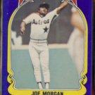 JOE MORGAN 1981 Fleer Star Sticker #109.  ASTROS