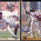 FRED McGRIFF 1993 Flair #8 + 1994 Flair #131.  PADRES / BRAVES