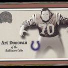 ART DONOVAN 2000 Fleer Greats #7.  COLTS